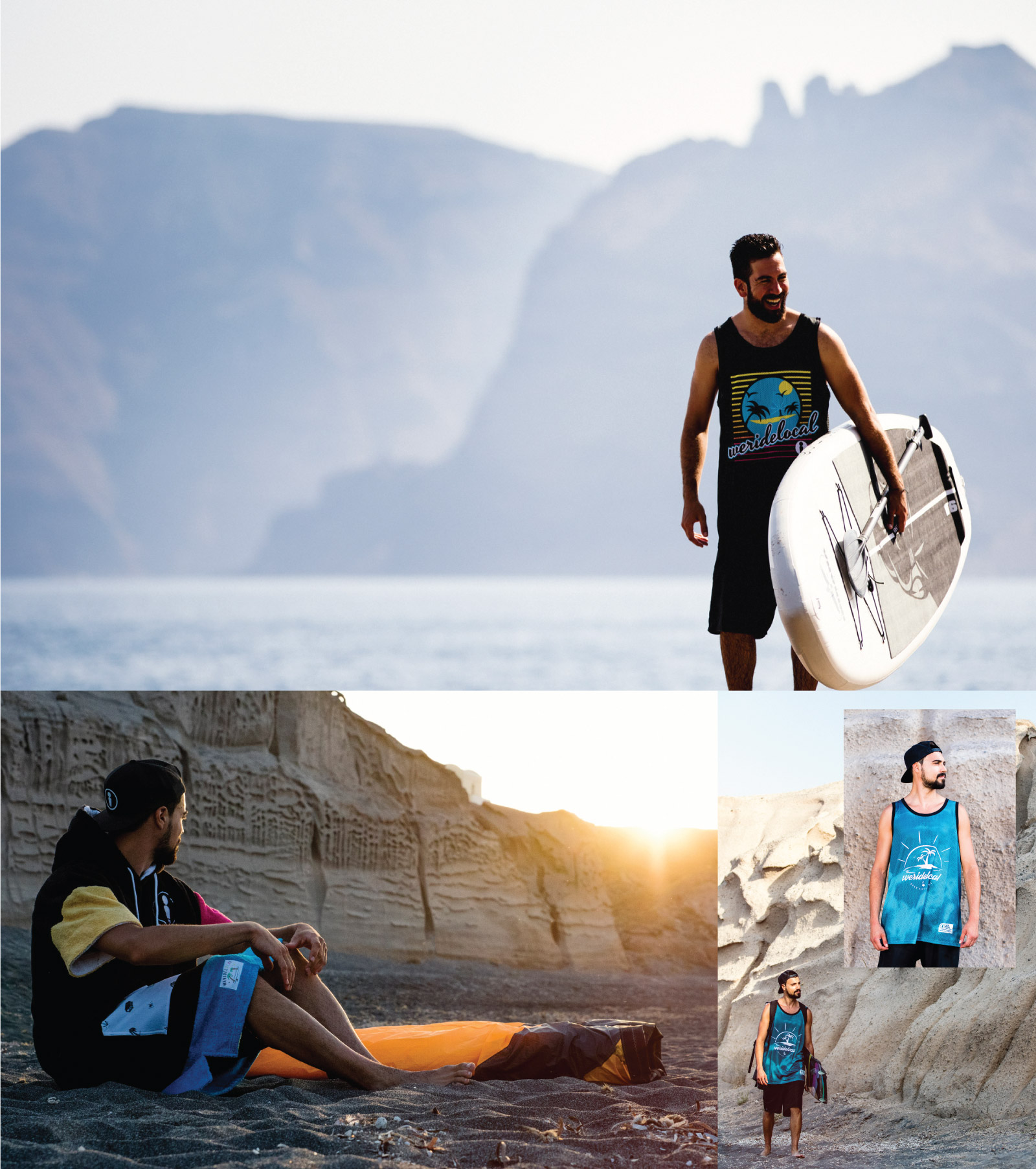 WWW.WERIDELOCAL.COM-MEN-PONCHO-TOWEL-COTTON-JERSEY-RASH-VEST-QUICKDRY-BASKET-STYLE