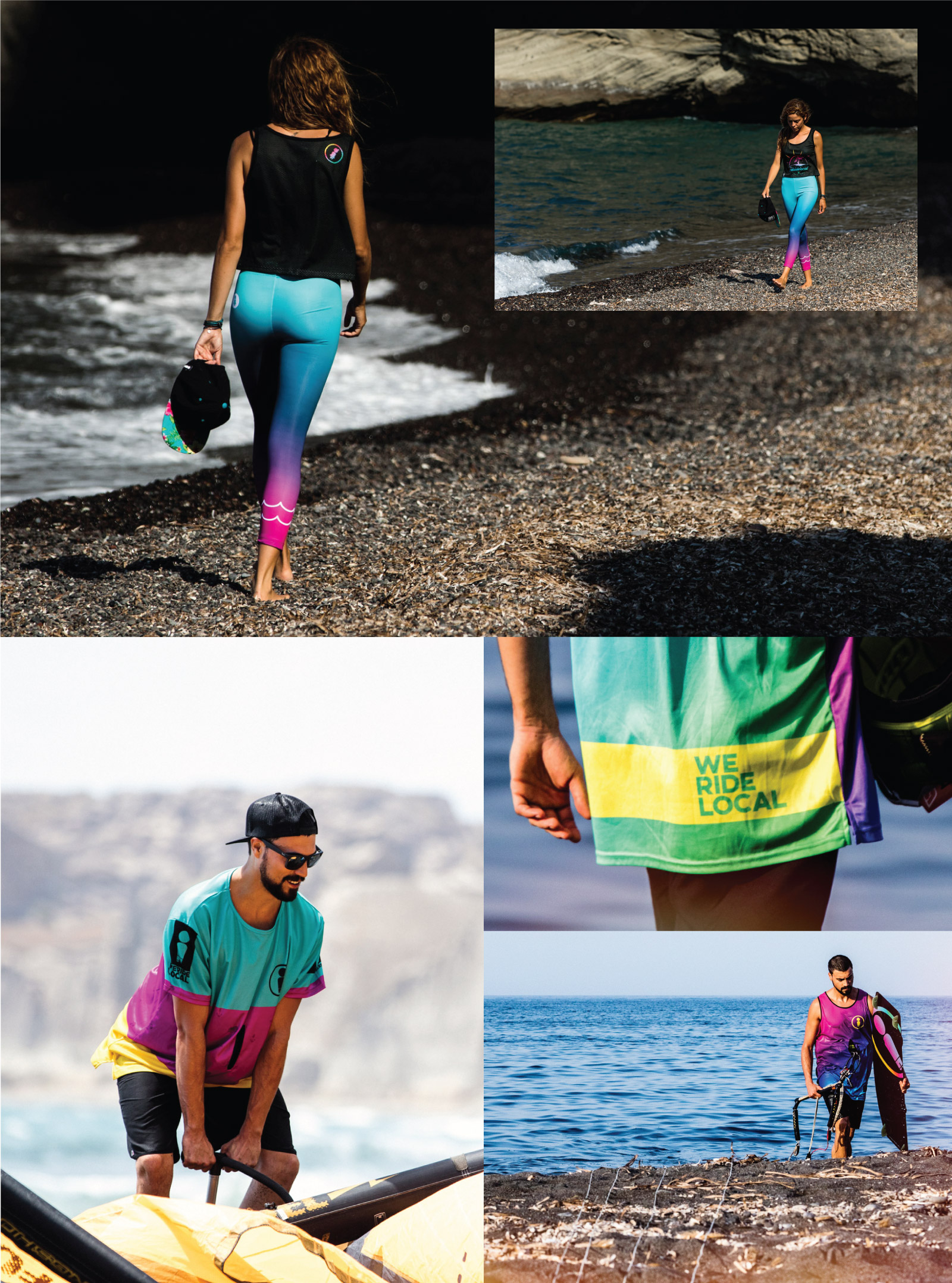 WWW.WERIDELOCAL.COM-WOMEN-SURF-YOGA-LEGGINS-LYCRA-MEN-RASH-GUARD-QUICKDRY-LOOSE-T-SHIRT