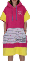 weridelocal girl poncho surf kite beachwear surfwear pink surprise