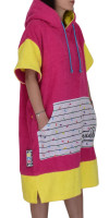 weridelocal girl poncho surf kite beachwear surfwear pink surprise colorful