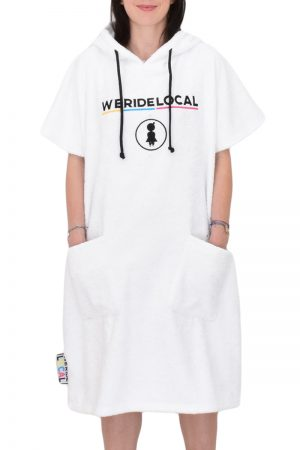 weridelocal white girl rider surf pocho cotton towel logo enbroidery