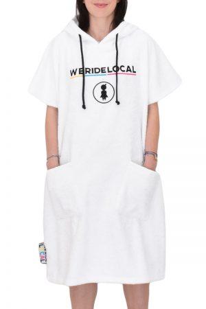 weridelocal white girl rider surf pocho cotton towel logo enbroidery