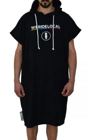 www.weridelocal.com-rider-black-poncho-surf-kite-wake-sup-beach-wear-ss17-front