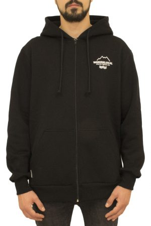 Fighters Black Zipped Hoodie