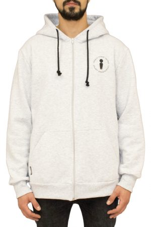 United Grey Zipped Hoodie