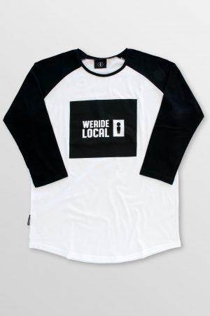 Emblem-White-Front-cotton-baseball-t-shirt-kitesurf-kiteboard-wake-sup-surf-weridelocal