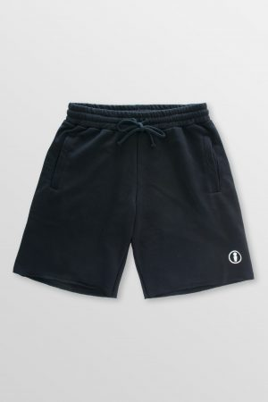 Basic-Black-Front-cotton-shorts-kitesurf-kiteboard-wake-sup-surf-weridelocal
