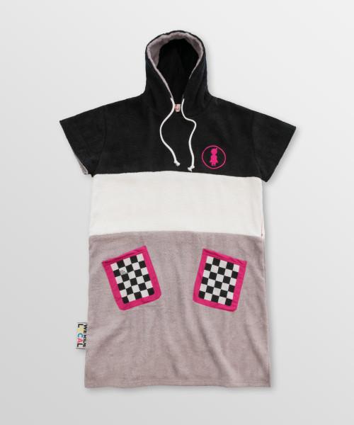 Checkered-Poncho-Front-Cotton-hoodie-Towel-surfponcho-changing-robe-Watersports-Kitesurf-Kiteboard-Sup-Wake-weridelocal
