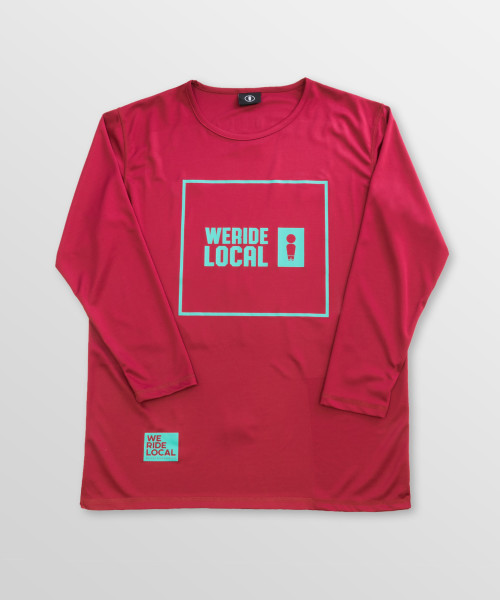 Emblem-Maroon-Front-riding-long-sleeve-tee-Quickdry-kitesurf-kiteboard-wake-sup-surf-weridelocal