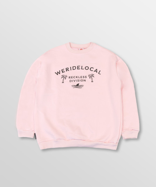 WeRideLocal_Division_Baby_Pink_Front_cotton_oversized_crewneck_FW19-2