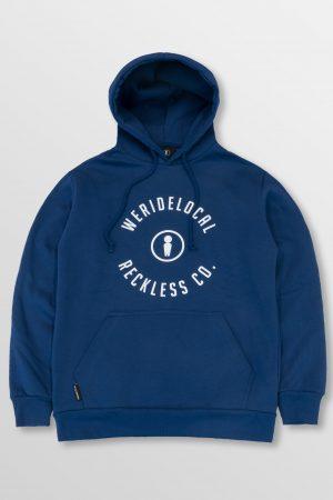 WeRideLocal_Mark_Blue_Indigo_Front_cotton_hoodie_FW19