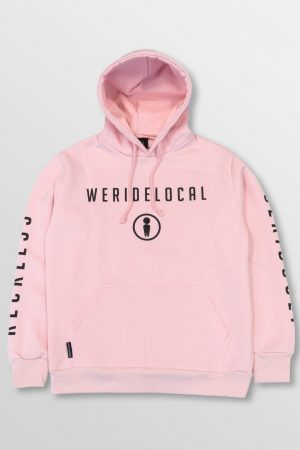 WeRideLocal_Park_Baby_Pink_Front_cotton_hoodie_FW19
