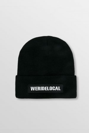 WeRideLocal_Pipe_Black_Beanie_FW19