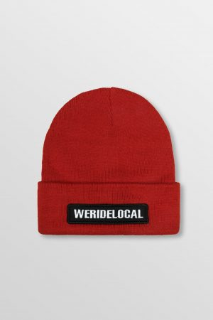 WeRideLocal_Pipe_Red_Beanie_FW19