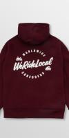 WeRideLocal_Script_Maroon_Back_cotton_zipped_hoodie_FW19