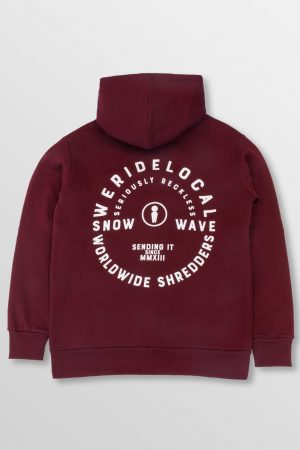 WeRideLocal_Shredder_Maroon_Back_cotton_hoodie_FW19