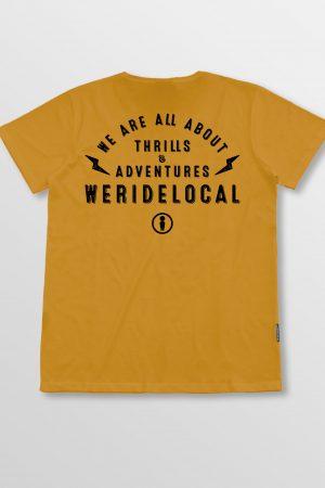 Weridelocal_Bolt_Tee_Mustard_Cotton_unisex_t-shirt_street_athletic_SS19_Back