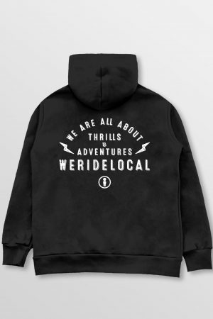 Weridelocal_Bolt_Zipped_Hoodie_Black_Cotton_unisex_street_athletic_SS19_Back