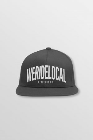 Weridelocal_Status_Snapback_Cap_Antracite_Charcoal_unisex_street_athletic_SS19_Front