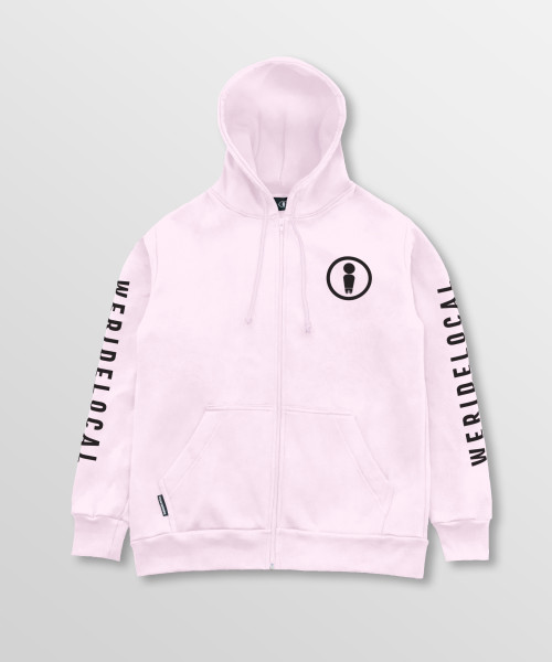 Weridelocal_Union_Zipped_Hoodie_Baby_Pink_Cotton_unisex_street_athletic_SS19