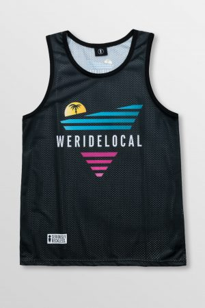 Weridelocal_80's_Black_Jersey_unisex_tank_top_street_athletic_SS19_Front