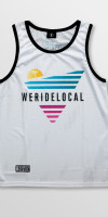Weridelocal_80's_White_Jersey_unisex_tank_top_street_athletic_SS19_Front