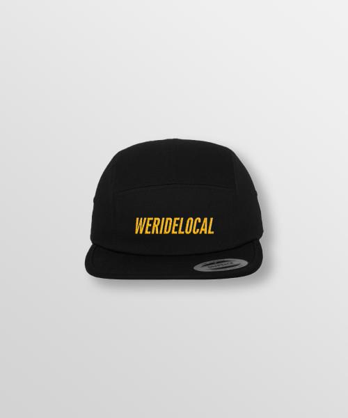 Weridelocal_Hero_Jockey_Cap_Black_unisex_street_athletic_SS19_Front