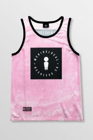 Weridelocal_Reckless_Pink_Jersey_unisex_tank_top_street_athletic_SS19_Front