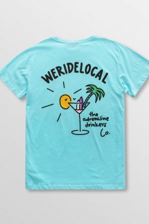 Weridelocal_Adrenaline_Drinkers_Tee_Aqua_Cotton_unisex_t-shirt_street_athletic_SS19_Back