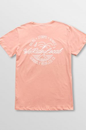 Weridelocal_Elements_Tee_Peach_Cotton_unisex_t-shirt_street_athletic_SS19_Back