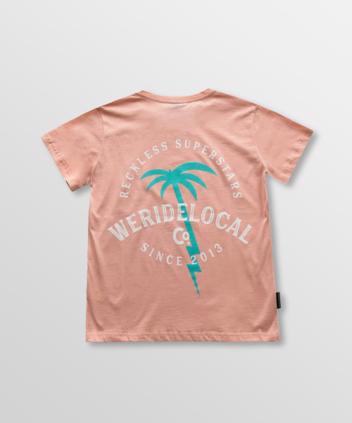 Weridelocal_Reckless_Division_Tee_Peach_Cotton_female_t-shirt_street_athletic_SS19_Back