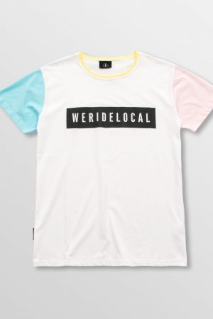 Weridelocal_Superstat_Tee_White_Colors_Pastel_Cotton_unisex_t-shirt_street_athletic_SS19_Front