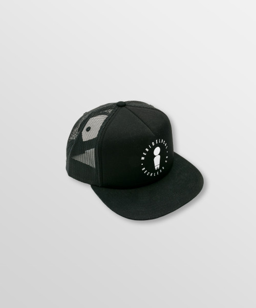 Weridelocal_Daily_Black_Trucker_Cap_Hat_unisex_street_athletic_SS19_Front