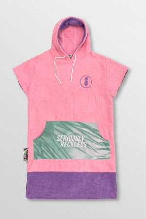 Weridelocal_Hawaii_Baby_Pink_Towel_poncho_hoodie_waterwear_cotton_athletic_Kite_surf_kitesurf_wakeboard_sup_windsurf_beach_portable_changing_room_SS19_Front