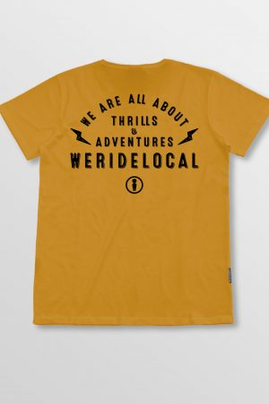 Weridelocal_Bolt_Tee_Mustard_Cotton_unisex_t-shirt_street_athletic_SS19_Back