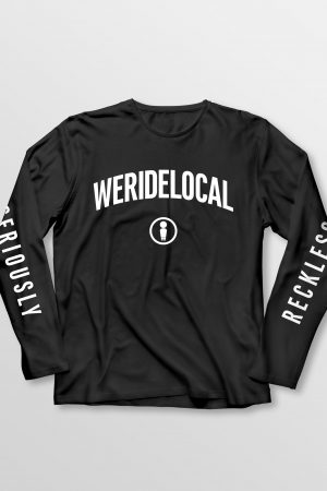 Weridelocal_Status_Long_Sleeve_Tee_Black_Cotton_unisex_t-shirt_street_athletic_SS19_Front