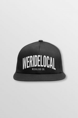 Weridelocal_Status_Snapback_Cap_Black_unisex_street_athletic_SS19_Front