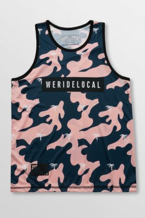 Weridelocal_Funky_Camo_Dark_Rashguard_Tank_Top_unisex_waterwear_UV50+_athletic_kitesurf_wakeboard_sup_windsurf_SS19_Front
