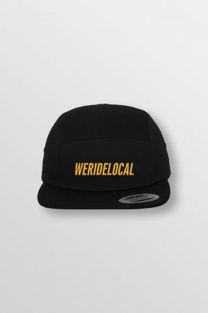 Weridelocal_Hero_Jockey_Cap_Black_unisex_street_athletic_SS19_Front
