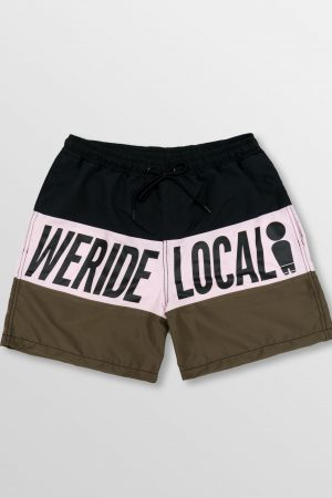 Weridelocal_Springbreak_Dark_Volley_Shorts_Boardshorts_Swinsuit_Swimwear_street_athletic_SS19_Front
