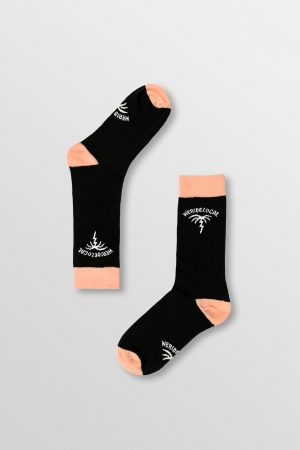 Weridelocal_Tropicality_Black_Socks_Cotton_unisex_street_athletic_SS19