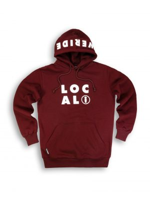 fella burgundy cotton hoodie streetwear fw21