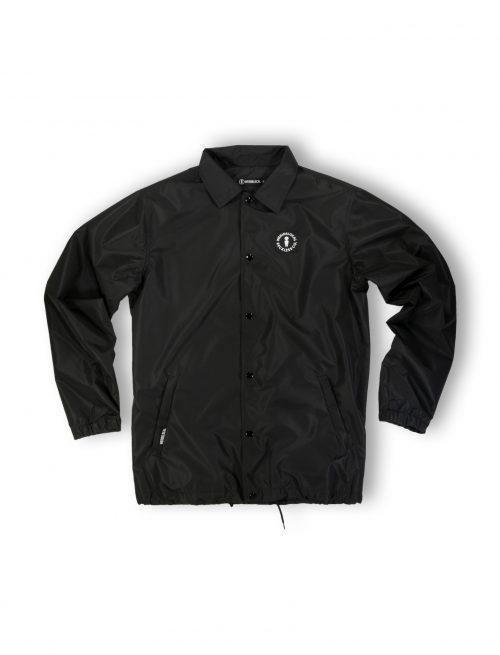 coach jacket logo black windproof waterproof streetwear fw21
