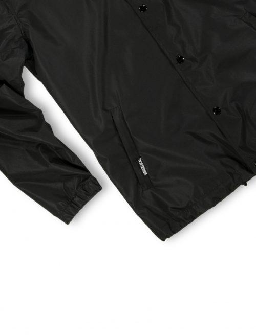 coach jacket logo black windproof waterproof streetwear fw21 detail