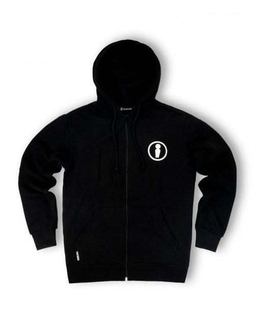 dood logo black zipped hoodie fw21 streetwear