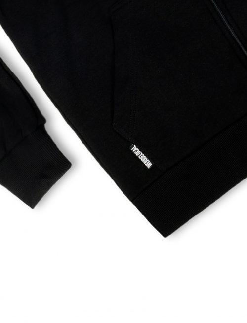 dood logo black zipped hoodie details fw21 streetwear