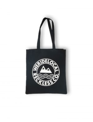 era cotton black tote bag mountain waves fw21