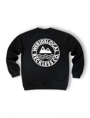 women oversized era black crewneck fw21
