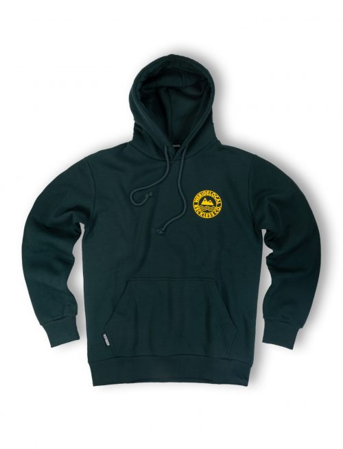 era forest green hoodie front fw21 mountain waves