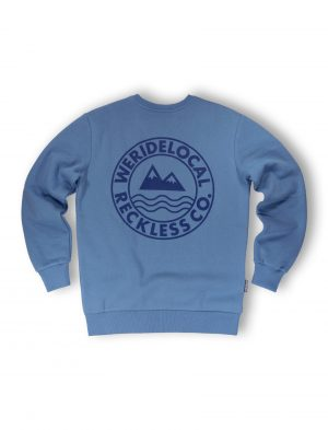 era indigo crewneck fw21 streetwear mountain waves